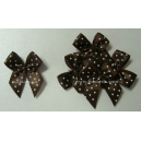 Dotty Bows - Chocolate - 10mm