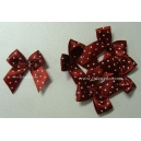 Dotty Bows - Marroon