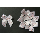 Dotty Bows - White - Red Dots