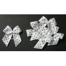 Dotty Bows - White - Blue Dots