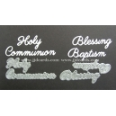 BRITANNIA DIES - BLESSING BAPTISM HOLY COMMUNION WORD SET - MULTI- BUY - 033 & 035