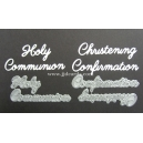 BRITANNIA DIES - CHRISTENING CONFIRMATION HOLY COMMUNION WORD SET - MULTI-BUY - 034 & 035
