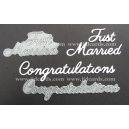 BRITTANNIA DIES - JUST MARRIED & CONGRATULATIONS - LARGE FONT