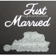 BRITANNIA DIES - JUST MARRIED - LARGE FONT WORD SET