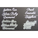 BRITANNIA DIES - OUR GOLDEN RUBY SILVER DIAMOND & PEARL EMERALD SAPPHIRE MULTIBUY