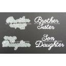BRITANNIA DIES - BROTHER SISTER & DAUGHTER SON - LARGE FONT MULTIBUY