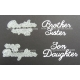 BRITANNIA DIES - BROTHER SISTER & DAUGHTER SON - LARGE FONT WORD SETS