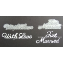 BRITANNIA DIES - WITH LOVE & JUST MARRIED - LARGE FONT MULTIBUY