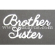 BRITANNIA DIES - BROTHER SISTER - LARGE FONT WORD SETS