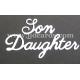 BRITANNIA DIES - DAUGHTER SON - LARGE FONT WORD SET