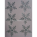 Rhinestone Snowflakes - 35mm Clear