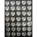 Pointed Resin Hearts - Clear