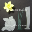 BRITANNIA DIES - LARGE DAFFODIL WITH LEAVES