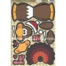 Kanban Christmas Wobbler - Pluck the Turkey
