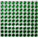 Green Flat Gems - 4mm