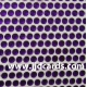 Purple Flat Gems - 3mm