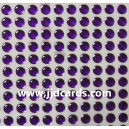 Purple Flat Gems - 4mm