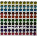 Multi Colour Flat Gems - 4mm