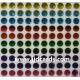 Multi Colour Flat Gems - 4mm