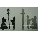 BRITANNIA DIES - CAROLERS & LAMP POST - 198 &197