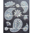 Pearl & Rhinestone Paisley & Flower Gems