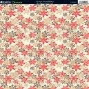 Ditsy Snowflake - Red