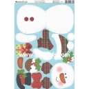 Kanban Christmas Wobbler - Snowman