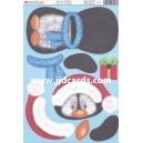 Kanban Christmas Wobbler - Penguin