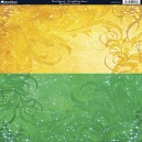 Duo Card - Twinkling Stars - Gold & Green