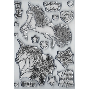 Magical Unicorn  Clear Stamps Set by Dawn Bibby