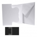 6x6 Square White - Fancy Tri-fold