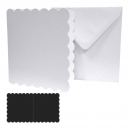 8x8 Square White Scallop Edge