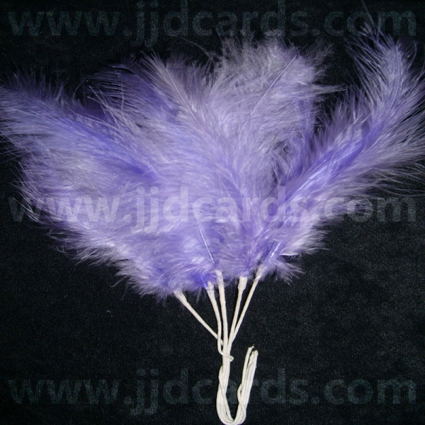 5 Long Stemmed Feathers With 3 Feathers Per Stem Lilac