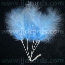 Long Stemmed Feathers - Blue