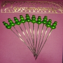 Embellishment Pins - Green