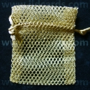 Mesh Drawstring Pouch - Gold