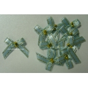Beaded Bows - Baby Blue/Gold
