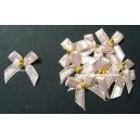 Beaded Bows - Baby Pink/Gold