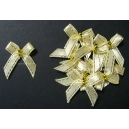 Beaded Bows - Champagne/ Gold