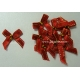 Beaded Bows - Scarlet/Gold