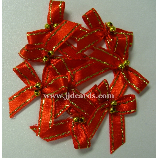 Beaded Bows Red Gold Beads Amp Metallic Trim