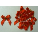 Beaded Bows - Red/Gold