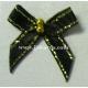 Beaded Bows - Black/Gold