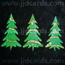 Diecut Textured Christmas Trees - Green/Gold