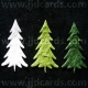 Diecut Textured Christmas Trees - 3 Col