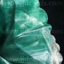 Organza - Scalloped Edge - Green/Silver