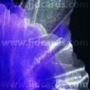 Organza - Scalloped Edge - Purple/Silver
