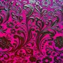Floral Scroll - Magenta
