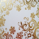 Gold Foiled Snowflake Scrolls