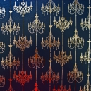 Chandeliers - Black Pearl - Gold Foil